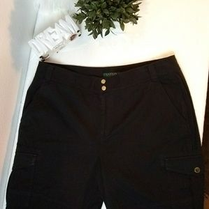 Lauren Ralph Lauren black plus size 16 pants